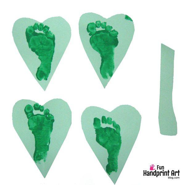 Footprint 4 Leaf Clover Craft for Kids