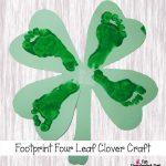 Footprint 4 Leaf Clover {St Patrick's Day Craft for Kids}