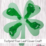 Four Leaf Clover Footprint Craft | St Patrick's Day Shamrock