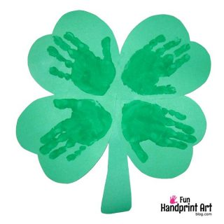Handprint 4 Leaf Clover | St Patrick's Day Craft