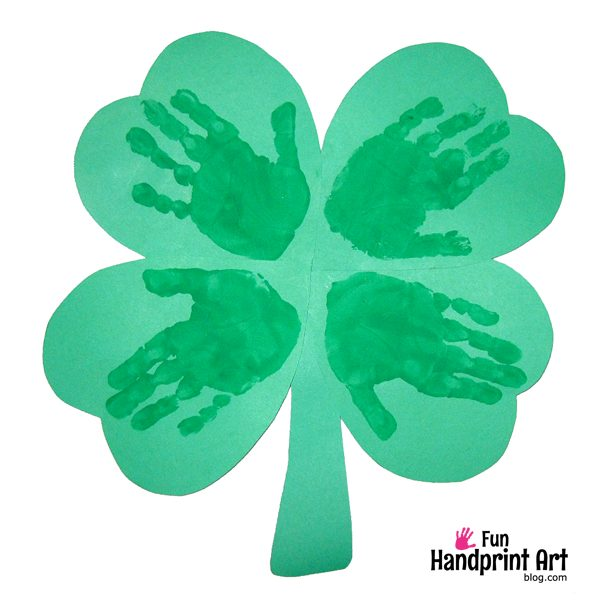 Handprint Shamrock Craft St Patrick's Day