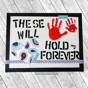 How to make a Sibling Handprint Canvas Keepsake to Display on Your Wall