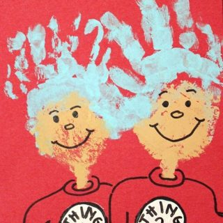 Thing 1 & Thing 2 Handprint Craft {Cat in the Hat Craft}