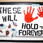 These Hands Will Hold My Heart Forever- Keepsake Handprint Canvas Craft