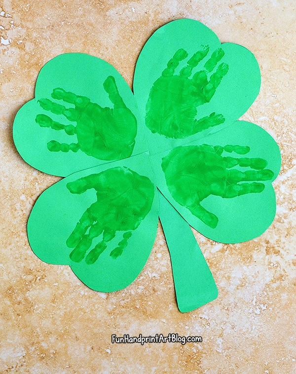 How To Make a Handprint Four Leaf Clover Craft