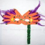Handprint Mardi Gras Mask for Kids