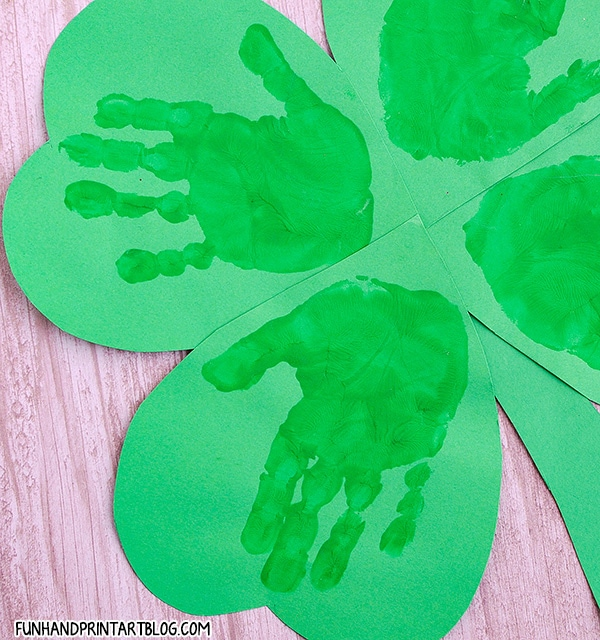 Four Leaf Clover Handprint Craft For St. Patrick's Day