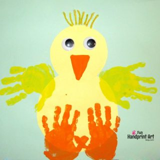 Baby Chick Handprint Craft for Easter