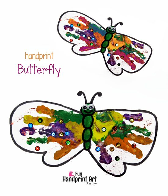 Butterfly Handprint Art - Spring Craft