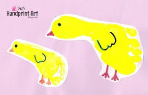 Footprint Chicks Easter Card and Craft for Kids