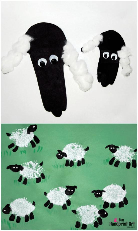 Handprint Lamb - Sheep Crafts