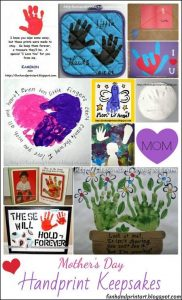 Mother's Day Handprint Art Keepsakes
