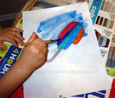 water-color-resist-art-project