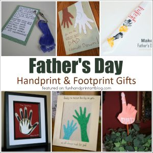Father's Day Handprint & Footprint Crafts
