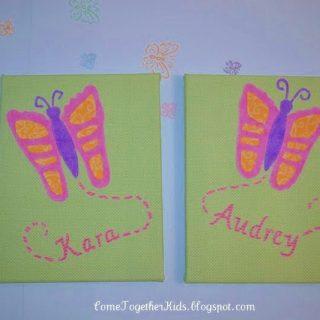 Footprint Butterfly Canvas