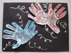 Handprint 4th of July Fireworks Preschool Craft Idea