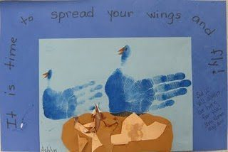 Handprint Birds with Cute Saying {Kids Craft}