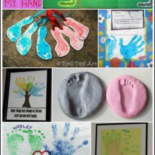 8 Last Minute Handprint & Footprint Father's Day Crafts