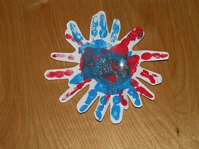 Fireworks made from handprints!