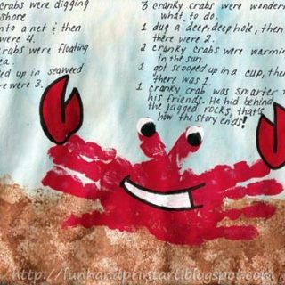 Handprint Crab and a cute crabby song!