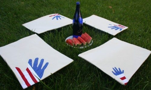 DIY Patriotic Handprint Placemates