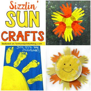Summer Craft Ideas for Kids: Make handprint & footprint sun crafts!