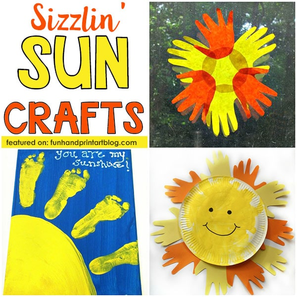 Summer Craft Ideas for Kids: Handprint Sun Crafts