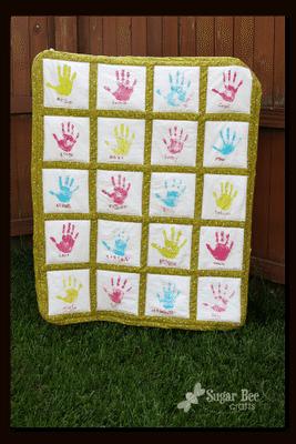 Handprint Quilt - Teacher Gift Idea
