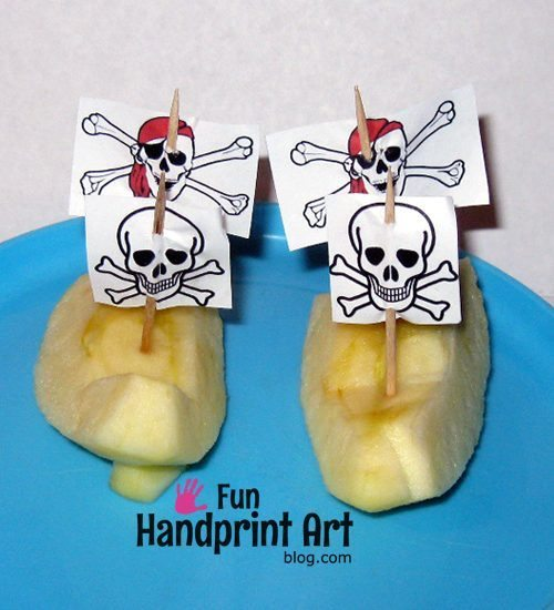 Apple Pirate Ships - Fun Food Idea for Talk Like a Pirate Day