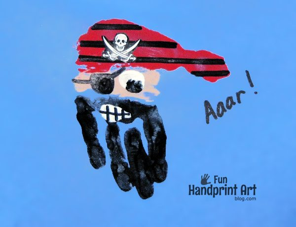 Handprint Pirate Craft for Talk Like a Pirate Day