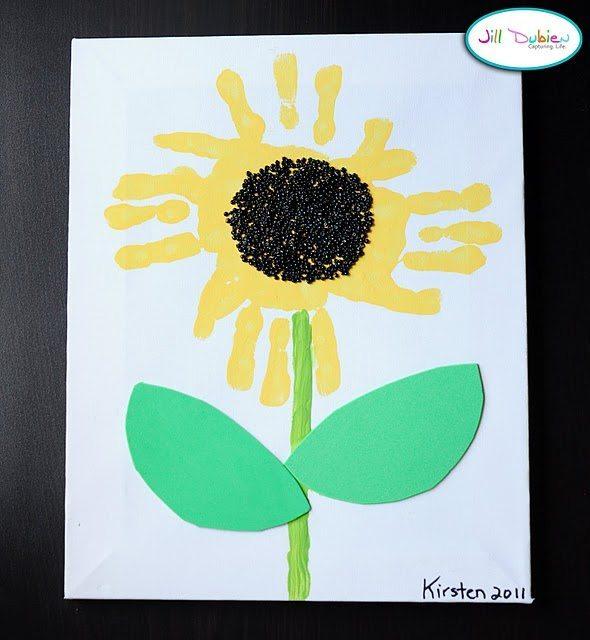 handprint sunflower crafts fun handprint art On sunflower arts and crafts