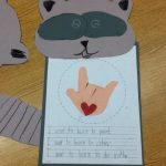 Chester the Raccoon Kissing Hand Craft