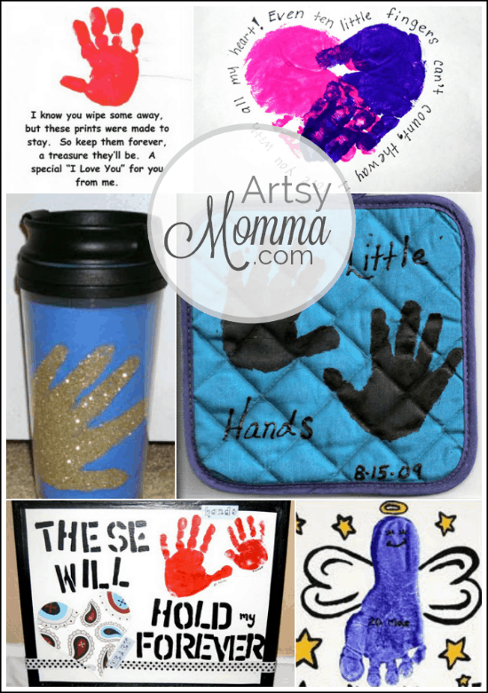 10 creative footprint christmas crafts fun handprint art 6 grandparents day ideas handprint crafts negle Gallery