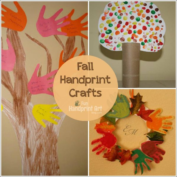 Fall Tree Leaf Crafts Made With Handprints And Fingerprints