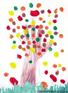 Fingerprint Tree Art and Scissor Practice