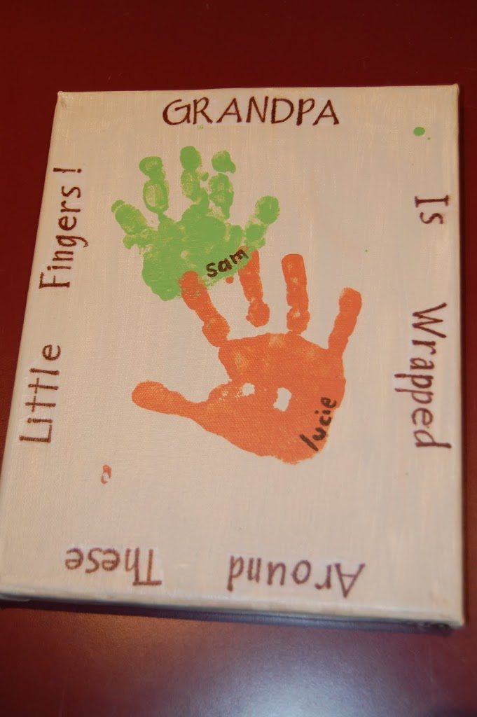 Handprint Plaque for Grandpa with Saying