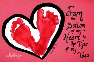 From the Bottom of my Heart Footprint Card