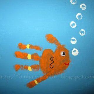 Handprint & Footprint Animal Canvas Art {Reader Submission}