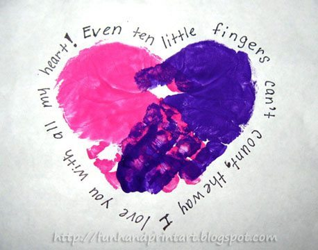 Handprint Heart with a cute poem