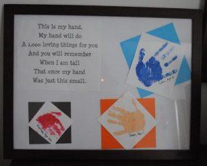 handprint keepsake picture