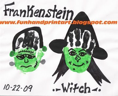 halloween handprint and footprint art witches amp frankensteins handprint amp footprint 6671
