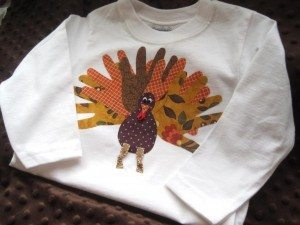 Handprint Turkey Shirt Applique