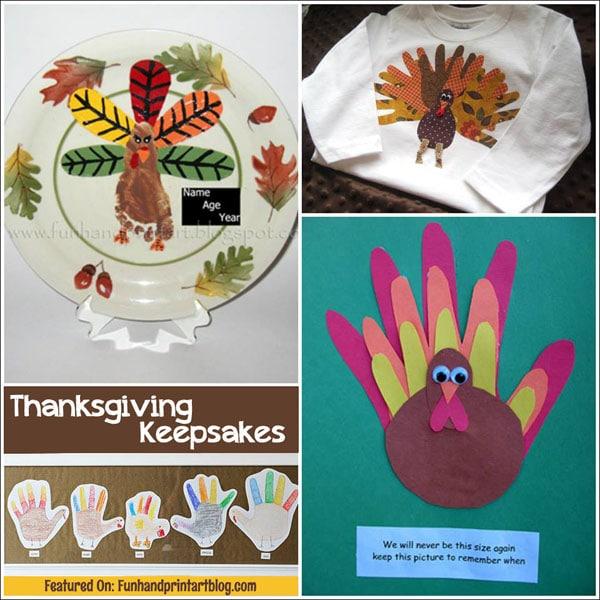 Handprint Crafts: Thanksgiving Keepsakes