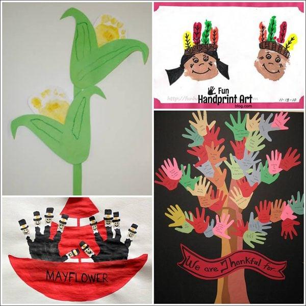 Non Turkey Themed Thanksgiving Ideas Using Hands Feet
