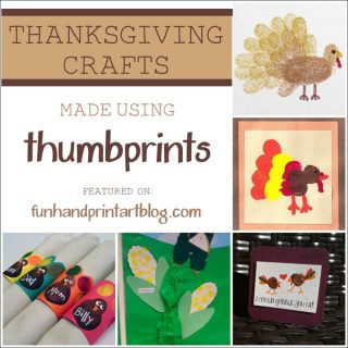 Thanksgiving Thumbprint Crafts {Round Up}