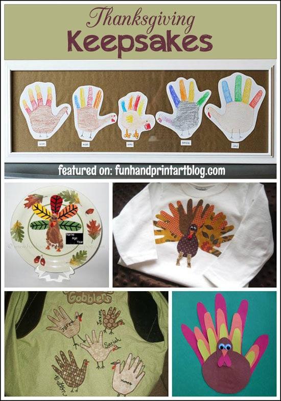 Thanksgiving Handprint Keepsakes