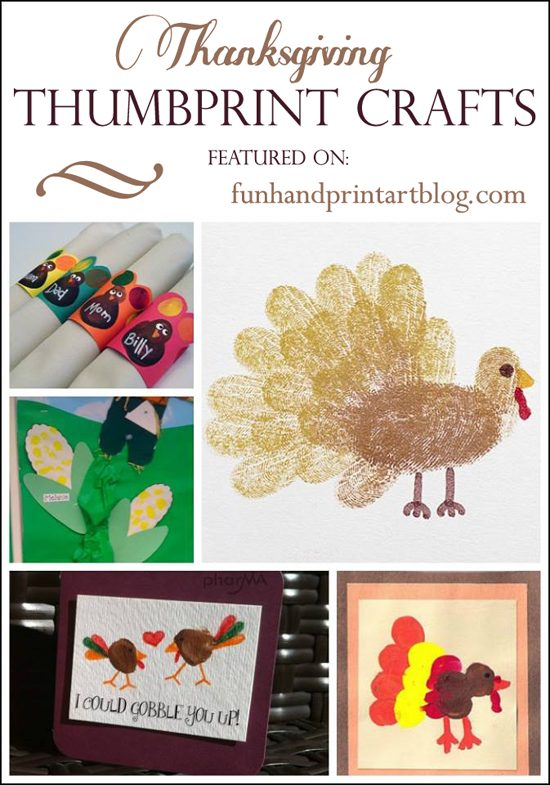 Fingerprint and Thumbprint Thanksgiving Craft Ideas