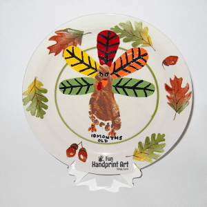 Turkey Footprint Keepsake Plate Tutrorial