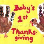Baby's 1st Handprint Turkey