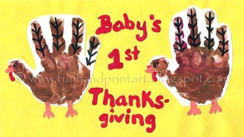 Baby s 1st handprint turkey fun handprint art